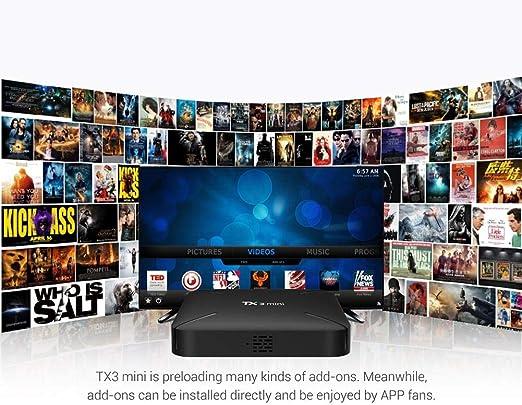 LLDHWX Tanix TX3 Mini-L Smart TV Box, Android 7.1 8G / 16G Amlogic 4K HD WiFi Más Reciente Set-Top Box de Red Ott STB (Set Top Box): Amazon.es: Hogar