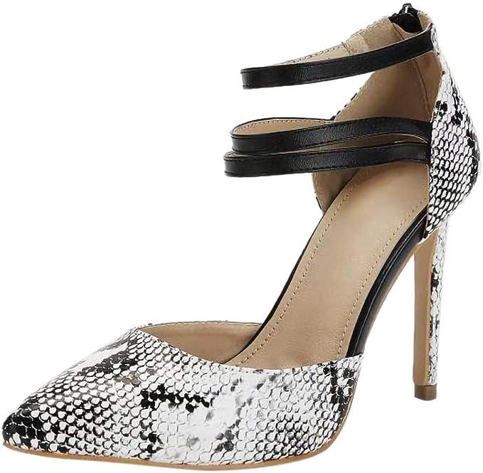 VECDY Zapatos Mujeres Sexy, Zapatos De Fiesta, patrón De Piel De ...