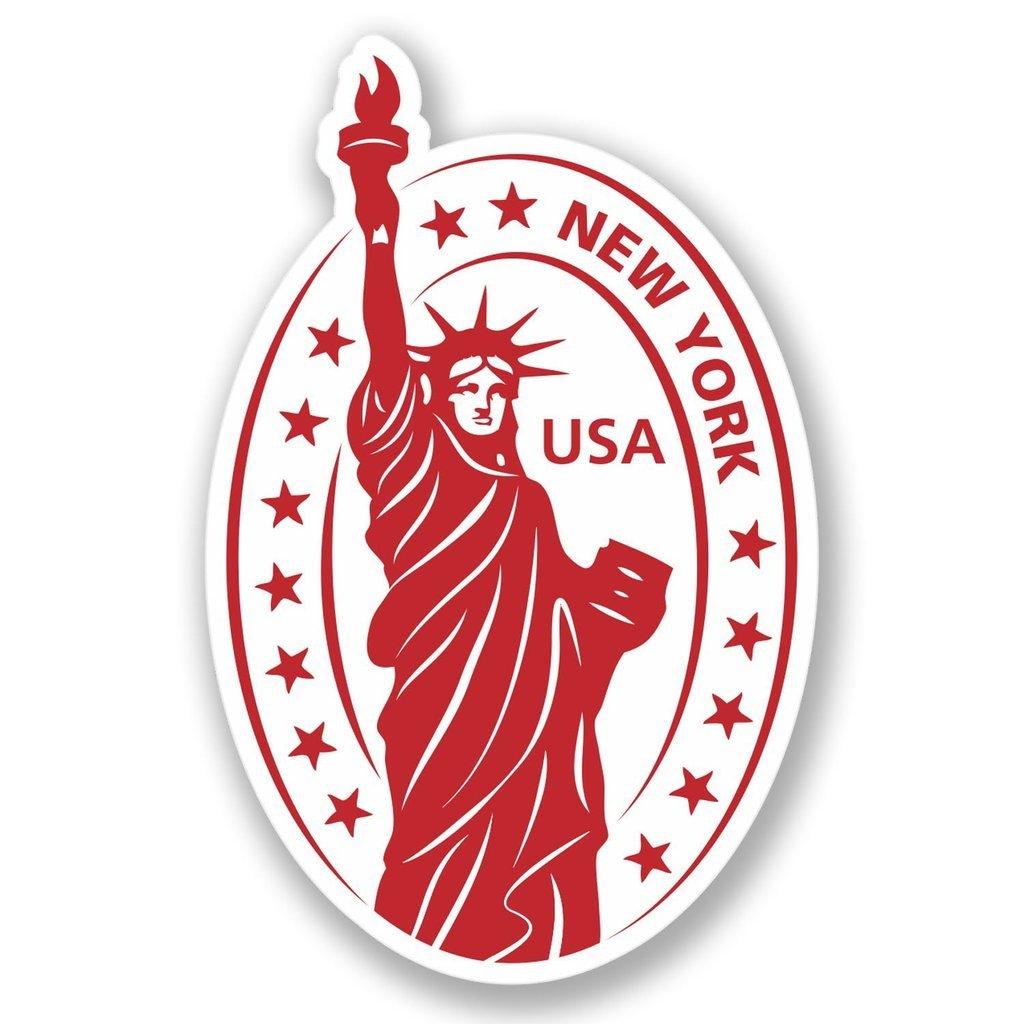 2 x USA America Vinyl Sticker Laptop Travel Luggage #4230