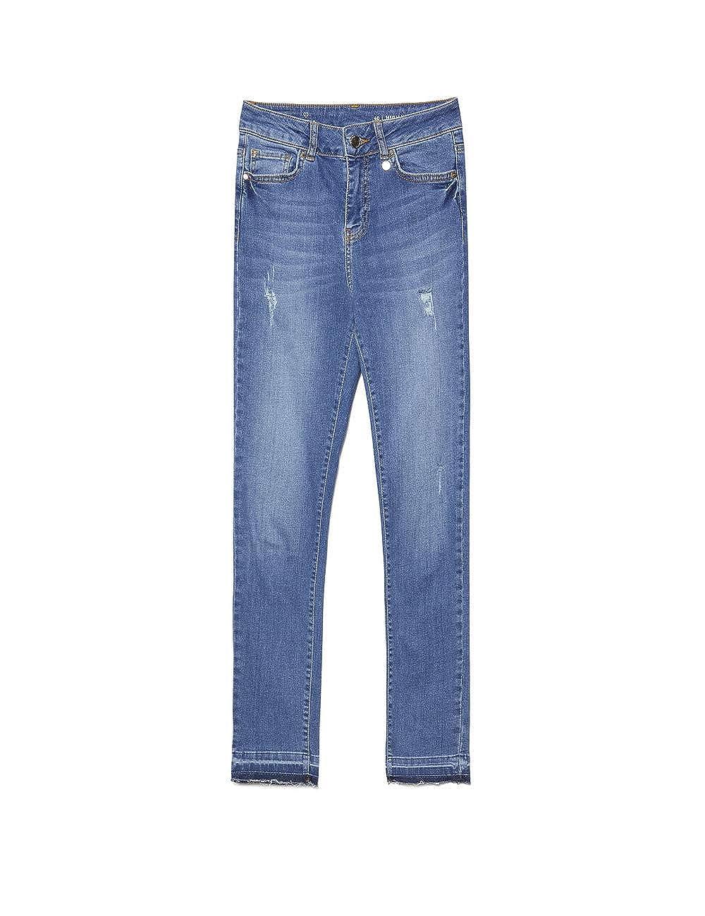 Italian Size Motivi Jeans Skinny High Lavaggio Medio