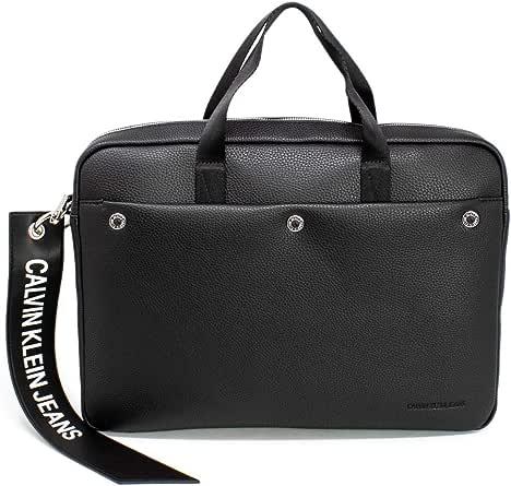 Calvin Klein Jeans Men's Banner Laptop Bag, Black, One