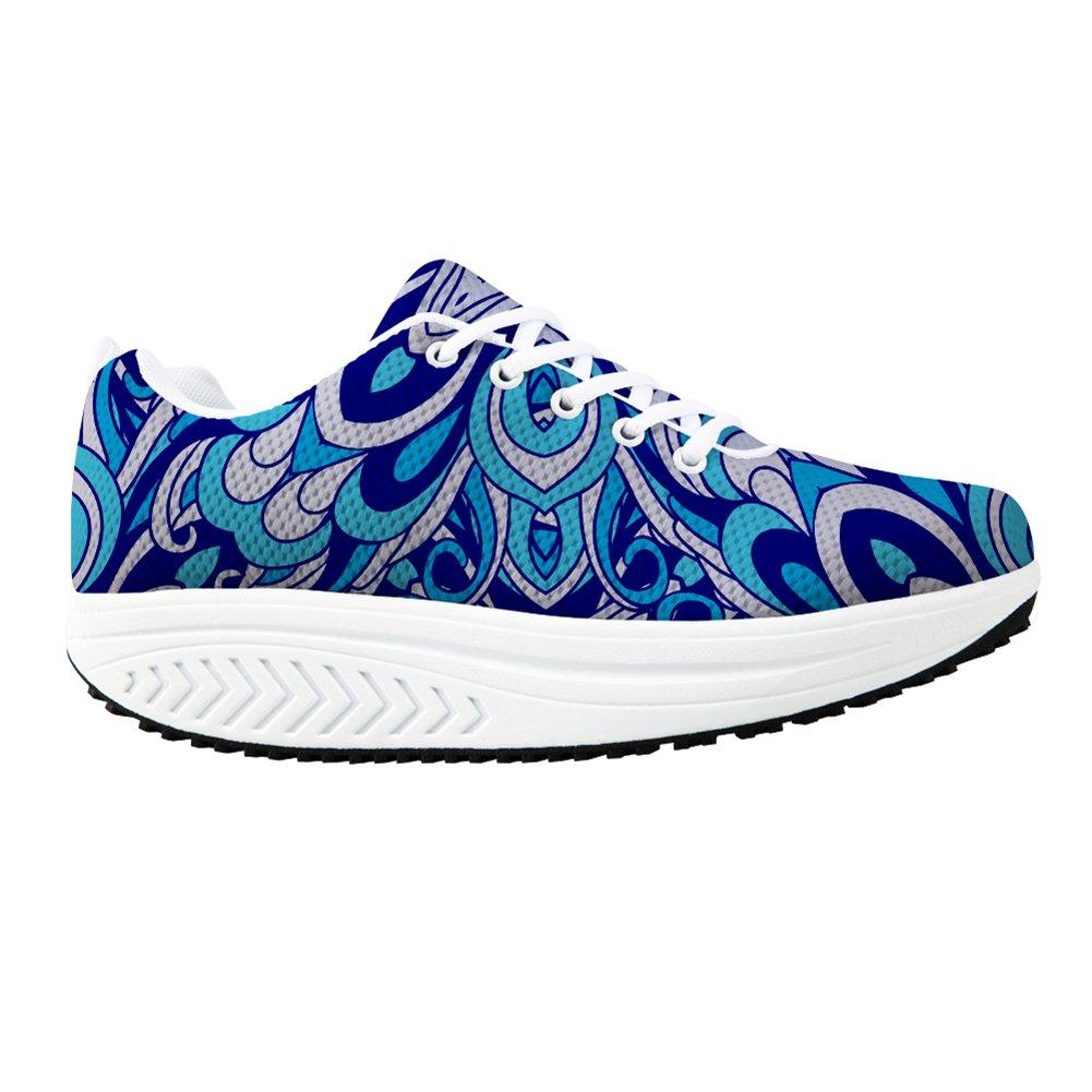 Bigcardesigns Fashion Fitness Walking Sneaker Casual Women Wedge Platform Shoes B01M8IQPB1 Women's US 6 B(M)=EUR 37|Blue