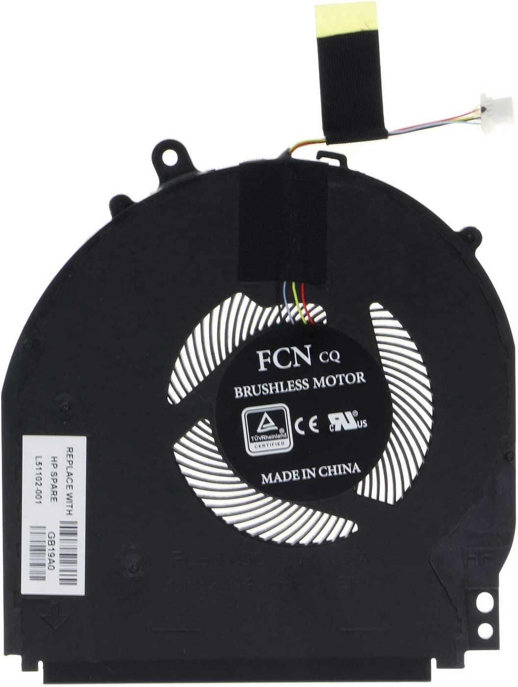 CPU Cooling Fan for HP Pavilion X360 14-DH 14-DH1036TX 14M-DH 14M-DH0003DX L51102-001 L51100-001