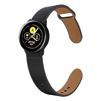 KTcos Compatible con Samsung Galaxy Watch 42mm/Active Correa Cuero, Recambio Reemplazo de Banda de la Muñeca Pulseras para Galaxy Active/42mm,Gear ...