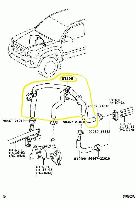Sensational Amazon Com Toyota 87209 04020 Hvac Heater Hose Automotive Wiring Cloud Hisonuggs Outletorg