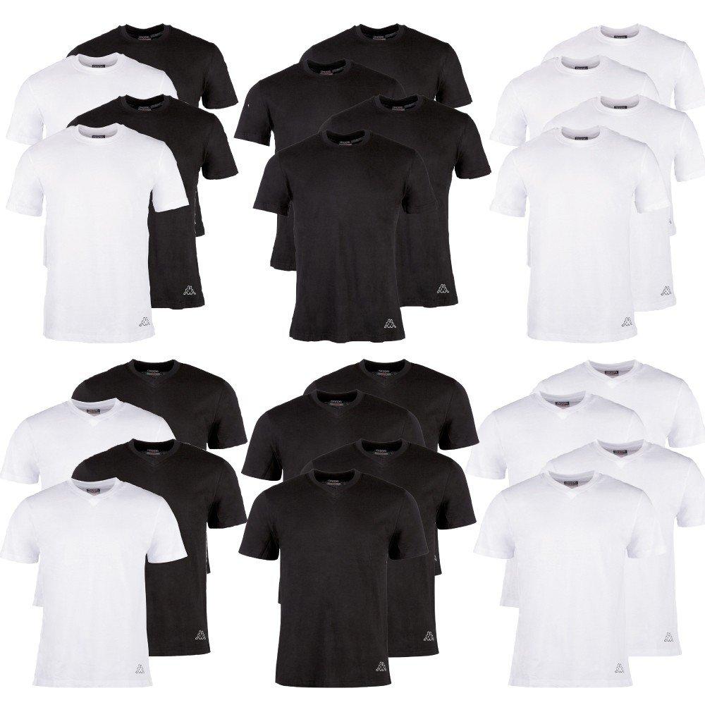 Camisetas Kappa Ziatec Edition, 2 o 4 unidades, escote redondo, cuello en V: Amazon.es: Deportes y aire libre