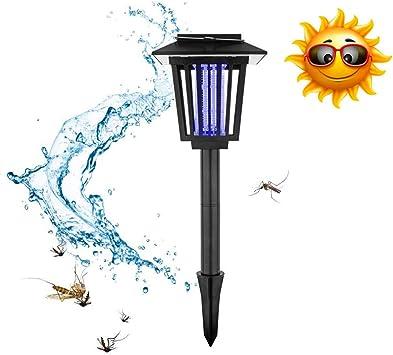 Patio jardin Mosquitos Insectos Killer Lámpara Camping Antimosquitos Lámpara Externa Extraíble,carga solar Exterminador Mosquitos Exterior Portátil Impermeable pesca,caza,ciclismo,viajes Negro: Amazon.es: Deportes y aire libre