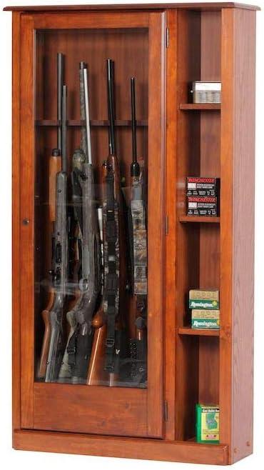 5.51 cu. ft. 10 Gun Cabinet and Curio 61xz9BsDqfLSL1500_