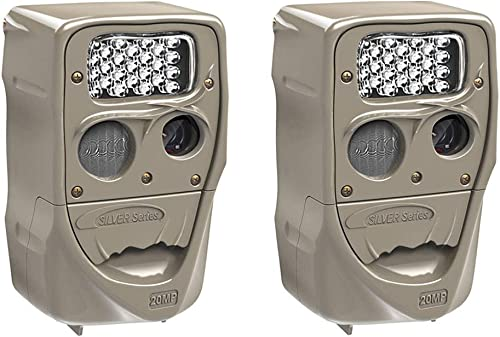 Cuddeback Power House 20MP Super Simple Setup Silver Flash Trail Camera 2 Pack