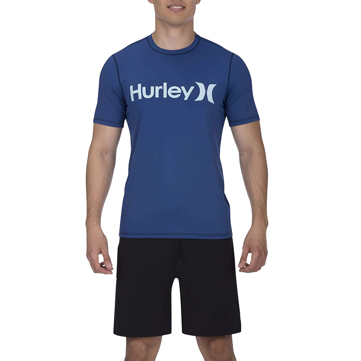 Hombre Hurley M One/&Only Surf Shirt S//S Lycras Blue Force M