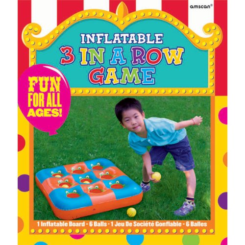 Carnival Fair Fun Inflatable 3 In A Row Game Party Activity, Plastic, 27