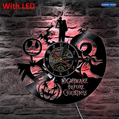 CHITOP Nightmare Before Christmas   Nightmare Before Christmas Art Decorative Handmade Wall lamp Color Changing led Light with Remote Controller Unique Gift