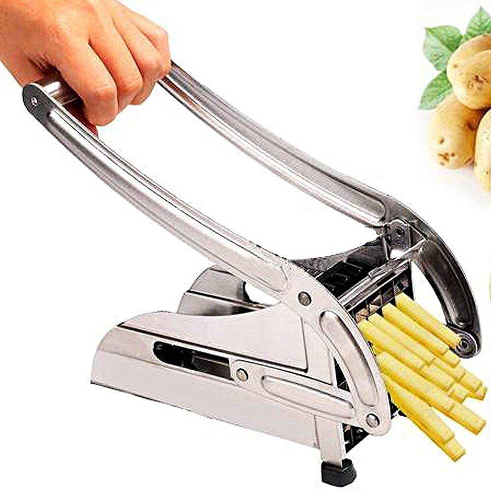 Stainless Steel Home French Fries Potato Chips Strip Slicer Cutter Maker Chopper