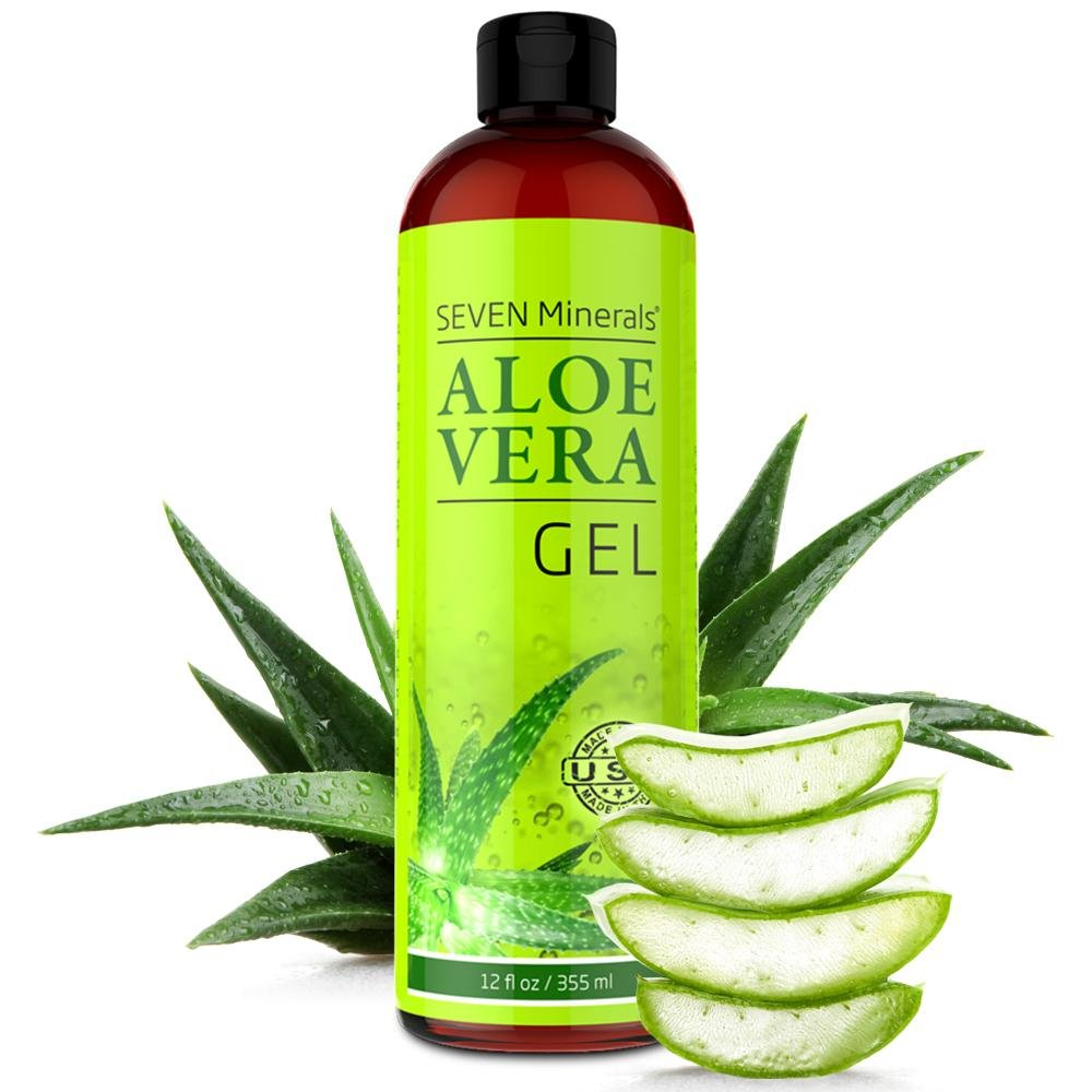 Aloe Vera Gel - 99% Organic, Big 12 oz - NO XANTHAN, so it Absorbs Rapidly with No Sticky Residue - made from REAL JUICE, NOT POWDER by Seven Minerals