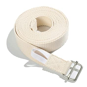 Amazon.com: Yoga Strap, Adjustable Cotton Stretching Belt ...
