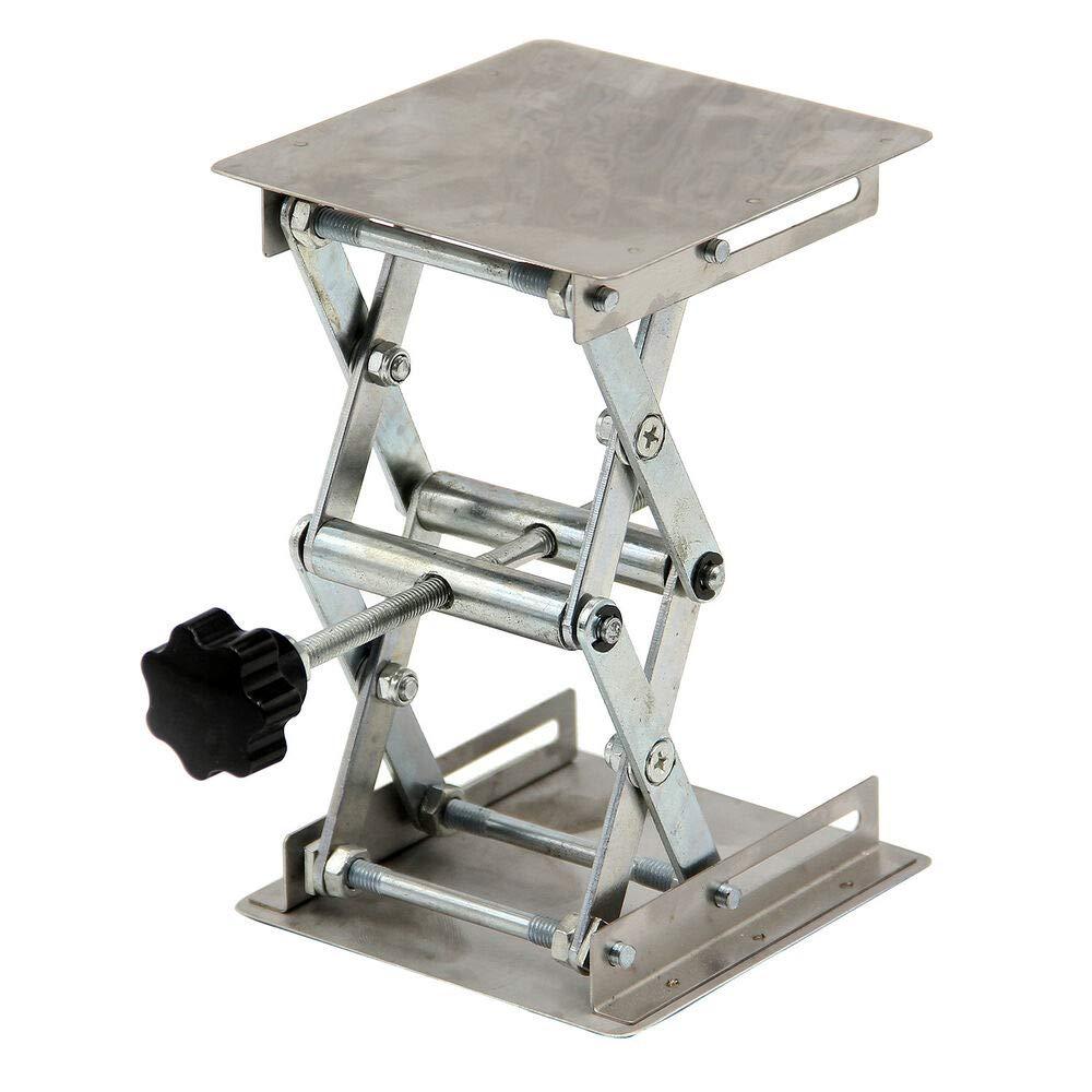 4''x4'' Stainless Steel Lab Jack Scissor Stand Platform 100mm 3kg/6.6lbs-HFS SS304