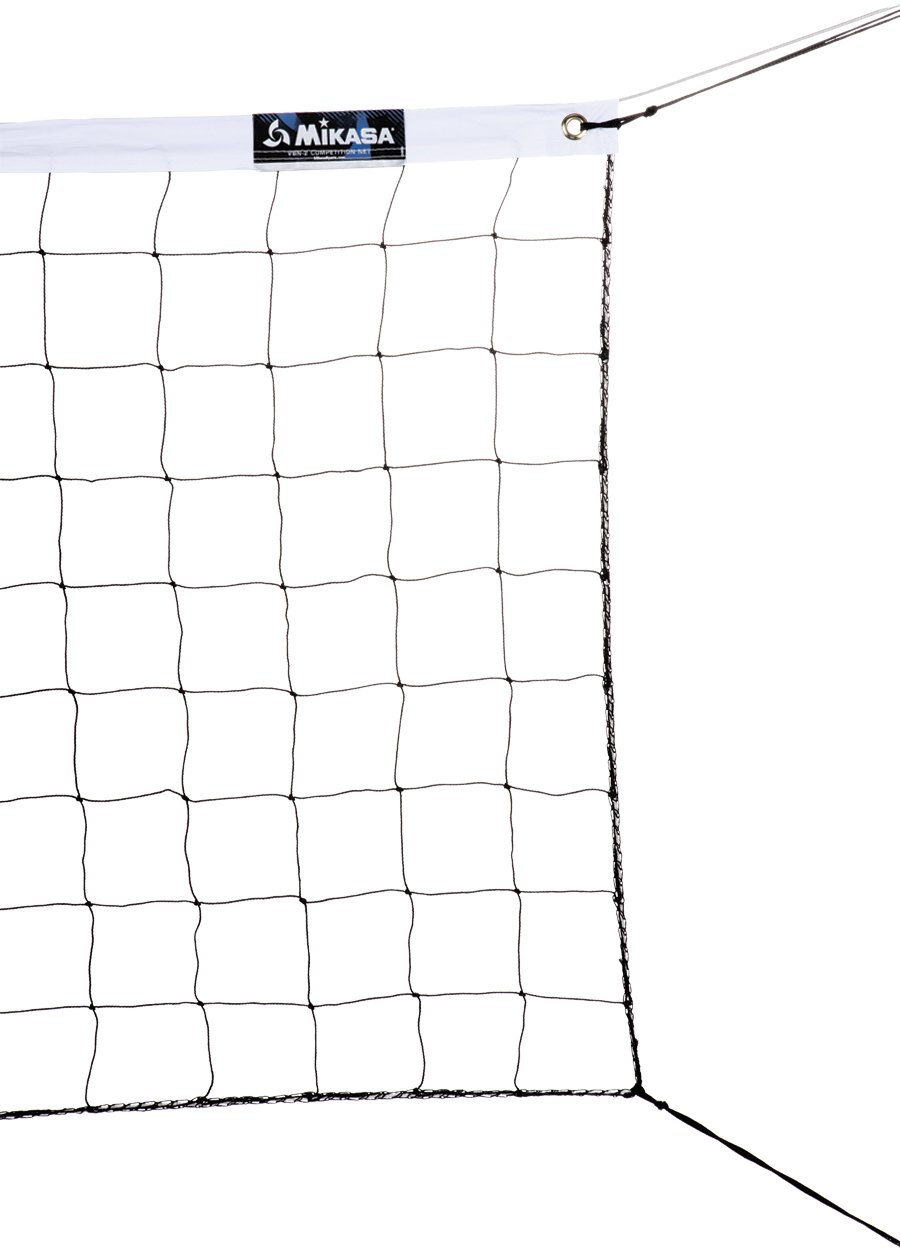 amazon com mikasa vbn 2 competition volleyball net volleyball