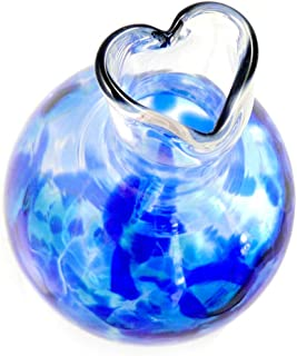 "product image for Heart Bud Vase, American Hand-Blown Glass, 5"", Cobalt Blue Color"