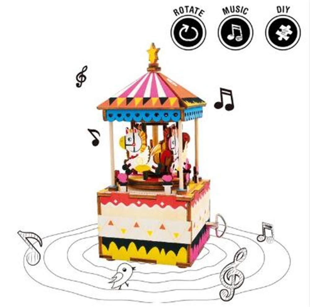 注目 (ビスカウン) DIYオルゴール Biscount 3Dパズル メリーゴーラウンド DIYオルゴール 木製おもちゃキット 回転オルゴール 回転オルゴール Biscount 時計仕掛けモデル 10歳以上 B07JM8VKBQ, 白河ラーメン:736aa9a1 --- arcego.dominiotemporario.com