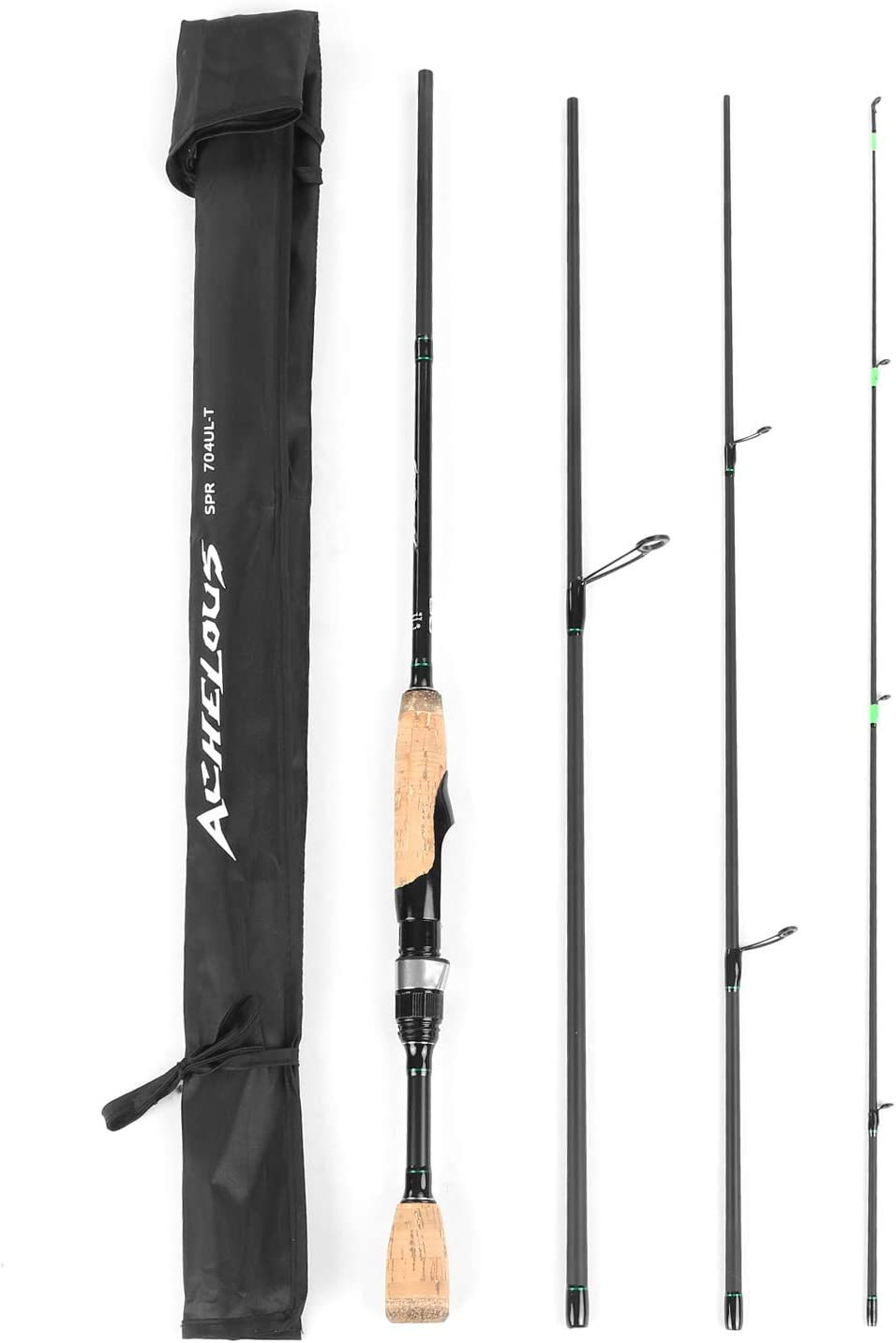 Portable Travel Spinning 6.8FT Fishing Rod- Best Bass Fishing Rod For Beginners