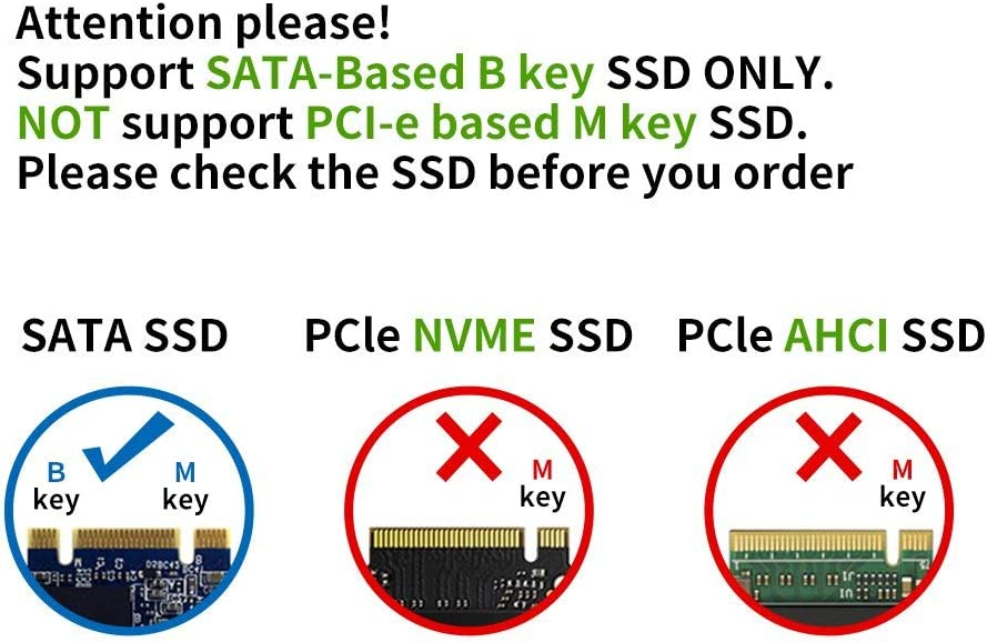 EasyULT Adaptador M.2 a USB,Llave B M.2 Adaptador de Disco Duro ...