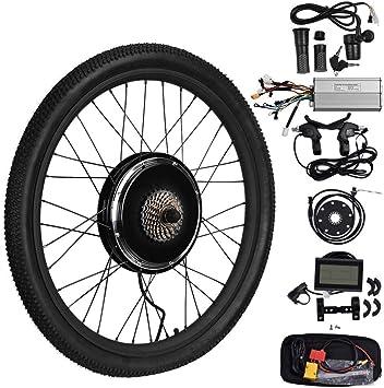 Kit Bicicleta Electrica, TOPQSC LCD 48V 1000W 26