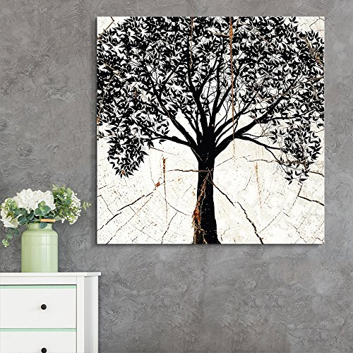 Square Bohemian Tree Wood Effect