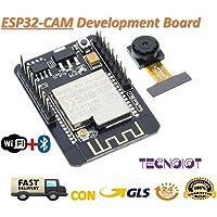 TECNOIOT Camera Module ESP32-CAM Bluetooth Module WiFi Board Development ESP32 OV2640 (Camera Included)