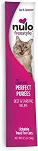 Nulo, FreeStyle Perfect Puree Beef & Sardine Lickable Cat Treat.5 oz