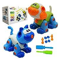 WenToyce Take Apart Toys for Kids, Creative DIY Building Cat Dog Blocks Puzzle Set...