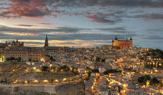 OKOUNOKO 500 Piezas Puzzles 3D, España, Toledo, Luces, para ...