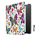 J Smart-Shell Stand Flip Case Cover With Auto Sleep/ Wake For All New Kindle Oasis E-Reader 2017 (7 Inch) Design Butterfly