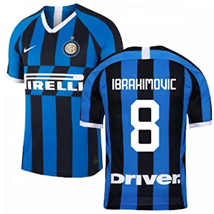 best cheap 02252 7ce2f Amazon.com : 2019-2020 Inter Milan Home Nike Football Soccer ...