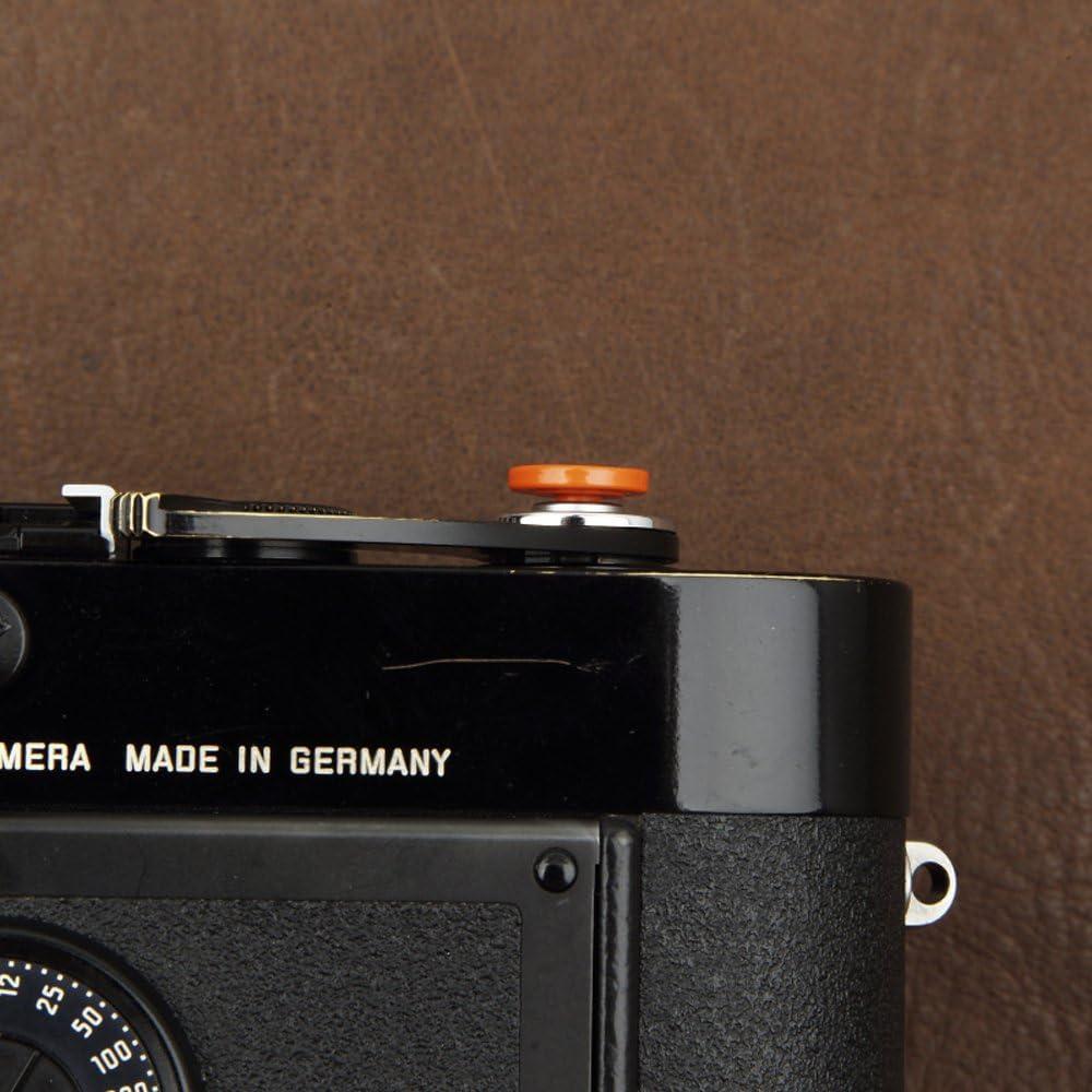 3 Pack VKO Soft Metal Shutter Release Button Brass Compatible with Fujifilm X-T30 X-T4 X-T3 X100F X-T20 X-PRO2 X-PRO3 X30 X100T X100S X-T2 RX10 III IV Camera Black Red Golden 11mm Concave Surface