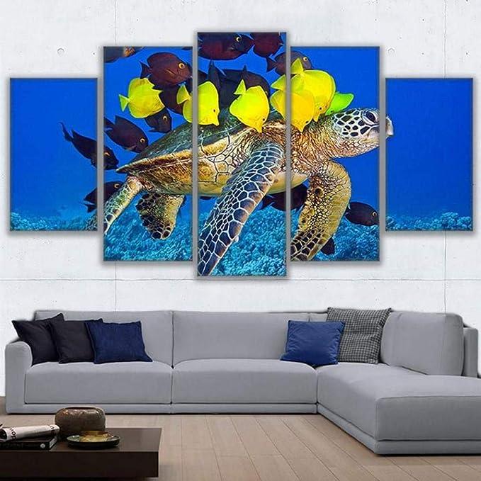 FCFLXJ 5 pinturas sobre lienzo Arte de pared de lona Arte de ...