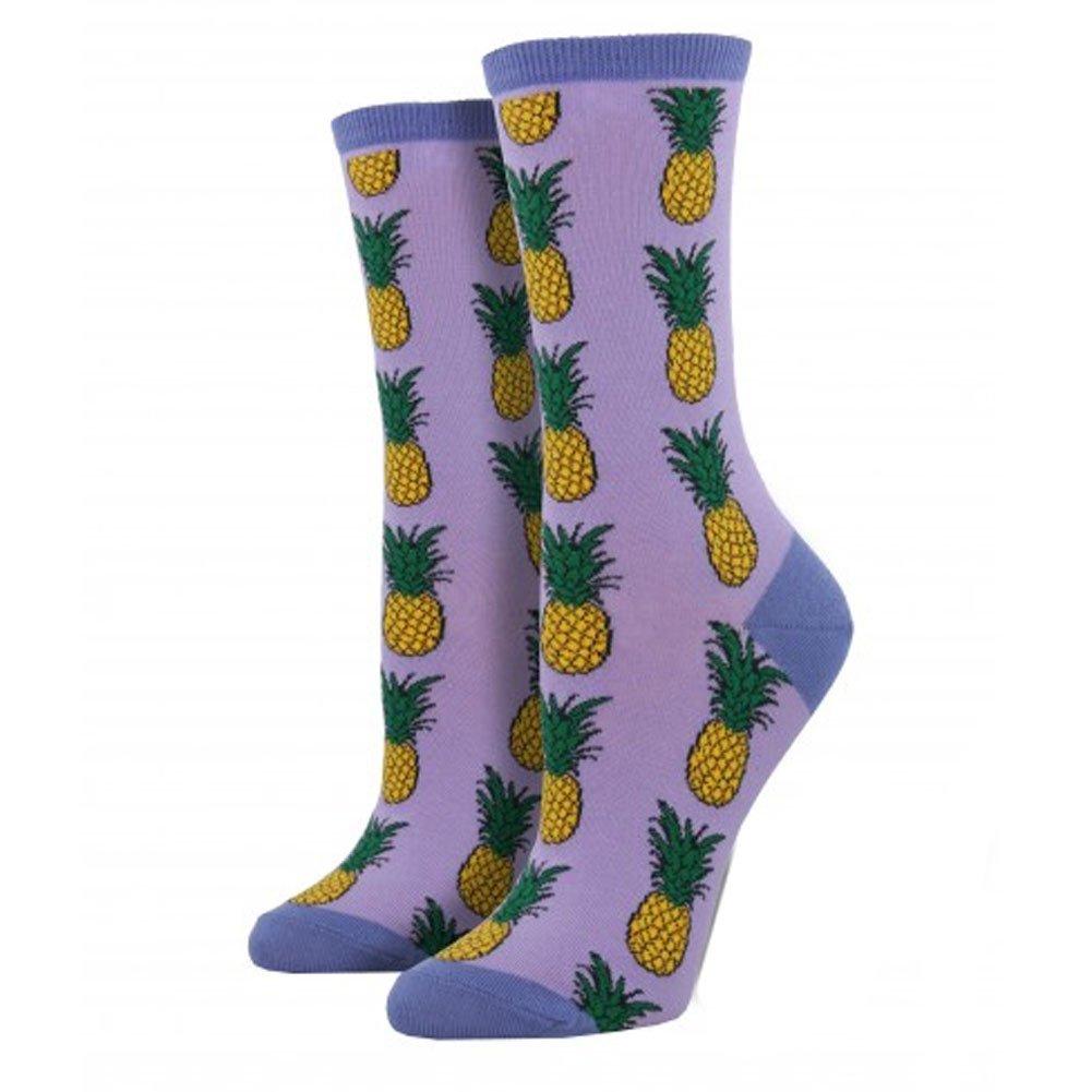 Socksmith Pineapple Womens Crew Socks WNC578