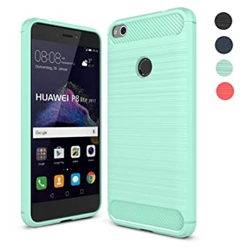 Fundass Carcasa Huawei P8 Lite 2017,Amytech 1.5 MM Grueso Gel Silicona Non-slip Anti-Fingerprint Anti-scratch Fundass Carcasa Case Para Huawei P8 LITE ...