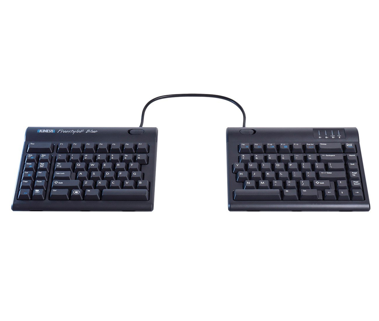 Computer input devices has introduced freestyle a range - Amazon Com Kinesis Freestyle2 Blue Wireless Ergonomic Keyboard For Pc 9 Separation Computers Accessories