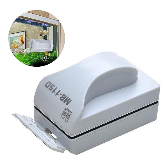 Covvy - Cepillo Limpiador magnético para Acuario o pecera, con Hoja de Pala Desmontable, espátula para Algas, Limpiador Flotante para Algas acuáticas (L): ...