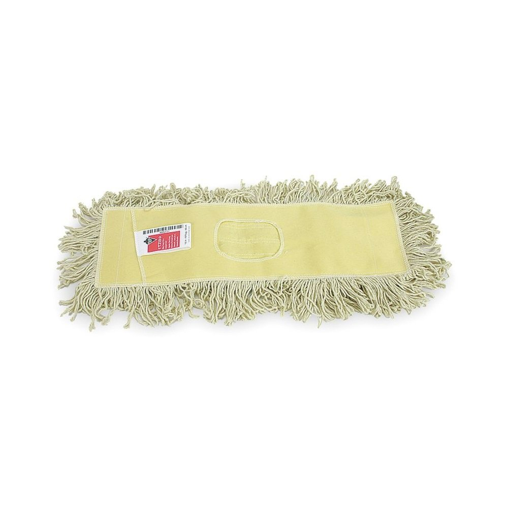 48'' Industrial Strength Washable Cotton Dust Mop Refill, Thick Tufted Replacement Head For Home & Commercial Use, Cleans Hardwood, Laminate, Concrete, or Other Floor Systems by Tough Guy
