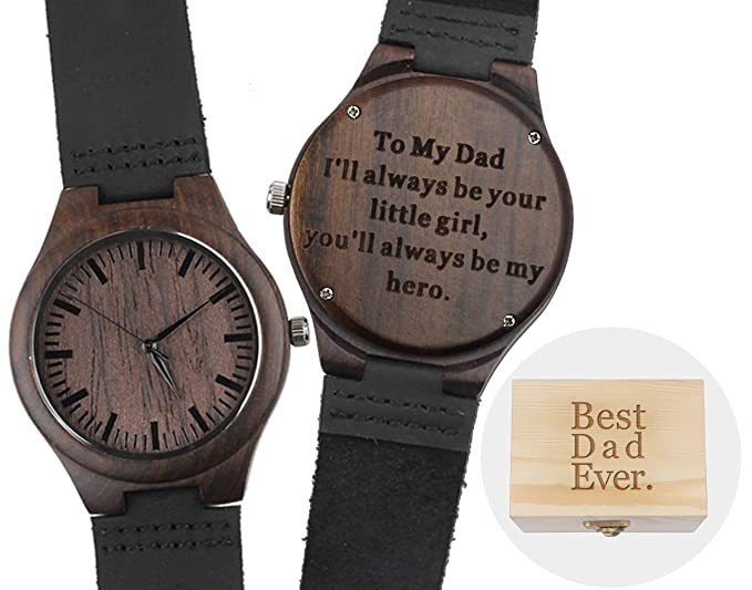 Engraved Wood Watch For Dad Gifts