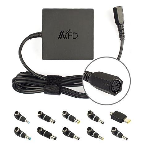 KFD 90W Cargador Adaptador Universal ordenador portatil para Toshiba HP Asus Acer Sony Samsung Lenovo Dell