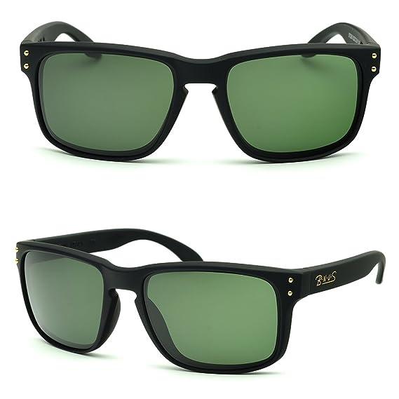 15f71e69fad bnus italy made classic sunglasses corning real glass lens w. polarized  option (frame  matte black