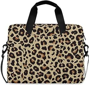 ALAZA Cheetah Leopard Print Animal Skin Laptop Case Bag Sleeve Portable Crossbody Messenger Briefcase w/Strap Handle, 16-17 inch