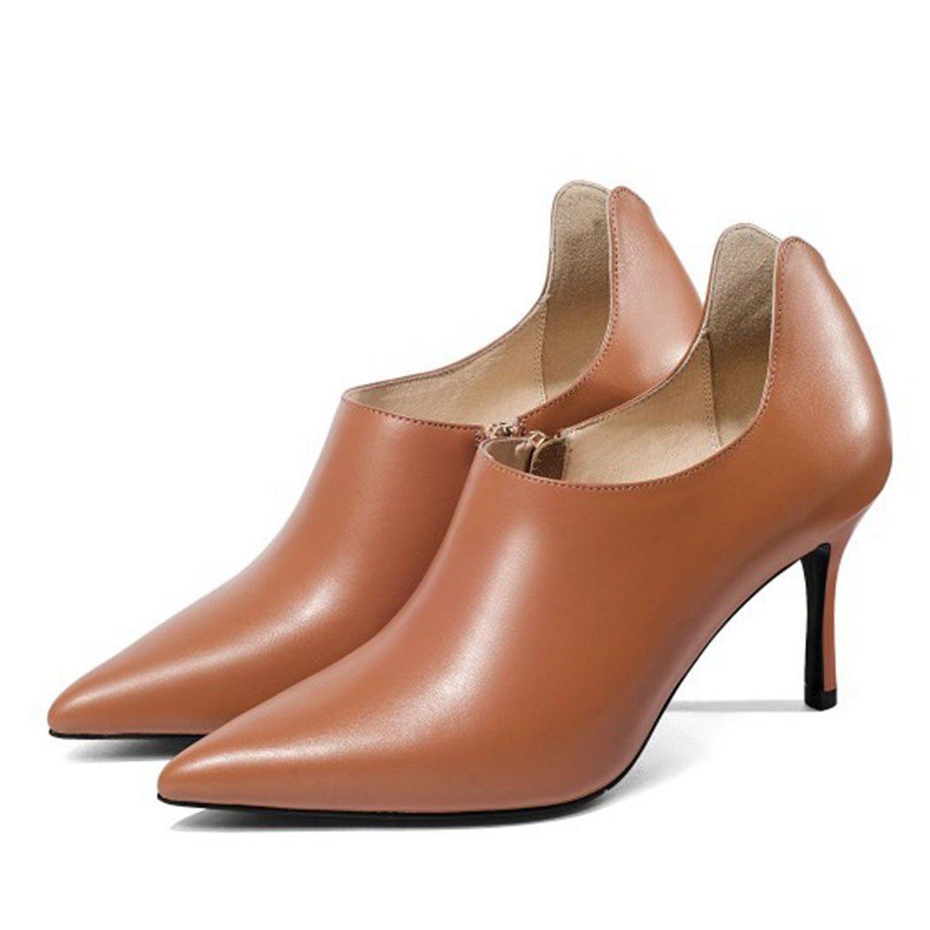 Pumpkin Couleur GAOLIXIA Femmes Chaussures Talons Hauts Escarpins Escarpins Chaussures de Travail de Mode Talons Aiguilles Stiletto Souliers 37 EU