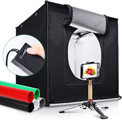 Red, Green, Yellow, Blue, White, Black WEIHONG Photo Studio 30cm Photo Softbox Portable Folding Studio Shooting Tent Box Kits with 6 Colors Backdrops Size: 30cm x 30cm x 30cm WEIHONG