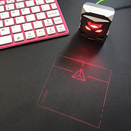 ODiN - Virtual Laser Holographic Mouse - World's First Projection Trackpad:  The Ideal Complementary Accessory for Virtual Keyboards (Silver)