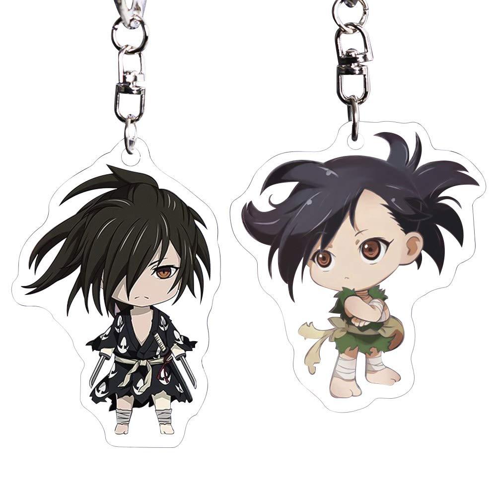 HomMall Anime Dororo Hyakkimaru Figure Pendants Doll Metal Keychain Japanese Manga Key Rings