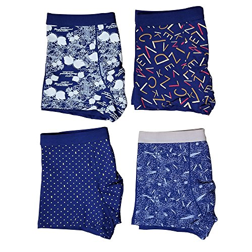 Printed Cotton Boxer (TissarLG Men's Boxer Briefs Fashion Printed Cotton Underwear (color05-4packed, M32-34/(China5xl)))