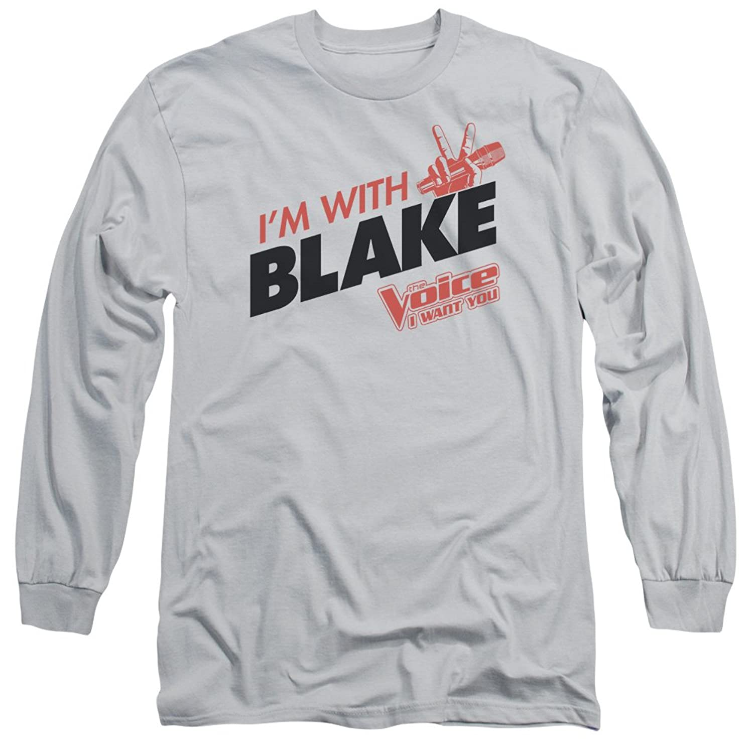 The Voice Reality TV Show Singing Competition I'm With Blake Adult L-Sleeve Tee